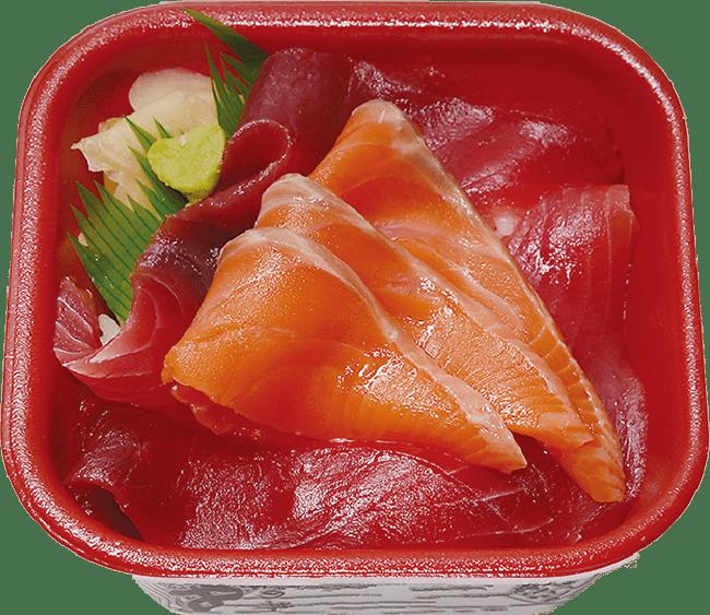 まぐろサーモン丼