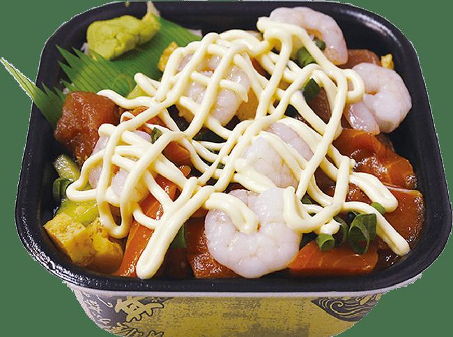バラエビマヨ丼