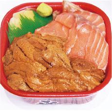 ウニサーモン丼