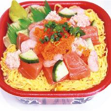 サーモンちらし丼