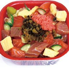 バラ高菜明太丼