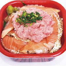 炙りトロサーモンネギトロ丼
